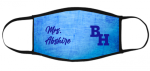 BH Face Mask 002 - Script Barbers Hill ISD