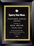 Classic Black Plaque Clear Glass Awards