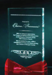 Clear Crystal with Red Bowtie Accents Crystal Awards