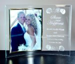 Curved Beveled Glass with Gold Photo Frame Desk & Wall Frames