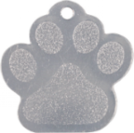 Stainless Steel Paw Print Pet Tag Dog Tags