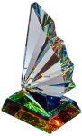 Optic Crystal Fanfare Spectra Color Crystal EXCLUSIVE AWARDS