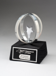 Chrome Plated Star in Aluminum Unisphere on Black Base Star Cast Awards